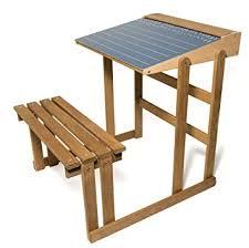 bureau d ecolier jeujura 8862 bureau d ecolier en bois teinté chêne amazon fr