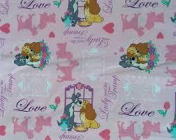 disney lady tramp fat quarter fabric cotton print