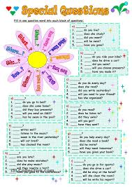 special questions teach esl pinterest worksheets english