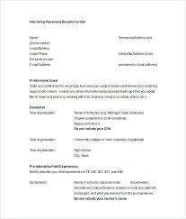 Resumes In Word Resume Resume Words For Skills Section Internship Placement Word