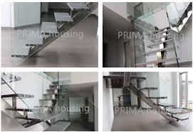 U Stairs Design Stainless Steel Railing Outdoor Staircases Design U Shaped Wood