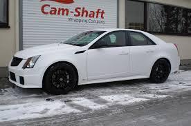 white cadillac cts black rims shaft cadillac cts v car tuning