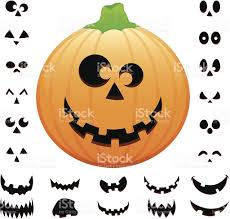 cheerful halloween pumpkin jack o lantern vector illustration