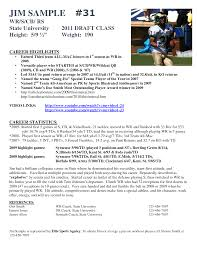 Resume Bio Example Of Athlete Bio Template Football Player Resume Examples Athlete