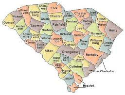 map of south carolina and county map