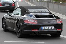 Porsche 911 Convertible - 2012 porsche 911 convertible clearest spy shots yet