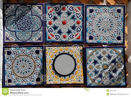 decorative painted ceramic tiles for sale royalty free stock