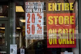 radio shack declares bankruptcy photos and images getty images
