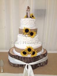 wedding cake ideas rustic rustic wedding cake ideas amusing sunflower wedding cakes
