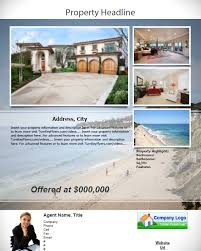 8 best images of for real estate flyer templates word real