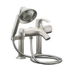 kohler symbol deck mount 1 handle freestanding roman bath filler