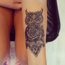 coverup touchup owl rose tattoos dövme inked by