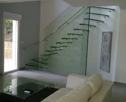 staircase wall design splendid floating glass stairs with single stainless steel wall
