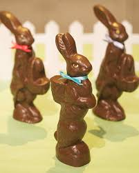 easter chocolate bunny faux chocolate bunnies martha stewart