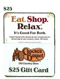 cracker barrel gift card cracker barrel gift card 25 gift cards