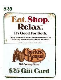cracker barrel gift card 25 gift cards