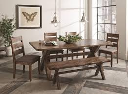 6 pc dining table set 6 pc knotty nutmeg asian hardwood dining table set by coaster