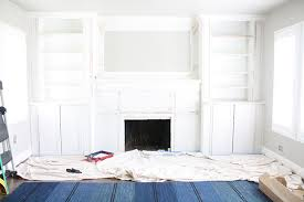 fireplace built in cabinets diy fireplace built ins ikea hack with billy bookcase
