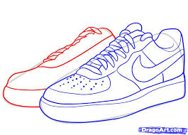how to draw nike how to draw air force ones step by step