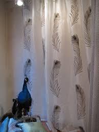 Burlap Curtains Amazon Bathroom Peacock Shower Curtain Amazon Com Shower Curtains