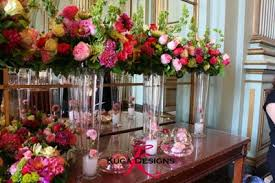 kuga designs pink wedding in a green room