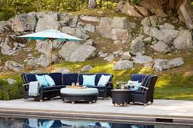 Outdoor Patio Set With Umbrella Navy Blue Outdoor Dining Set With Turquoise Umbrella