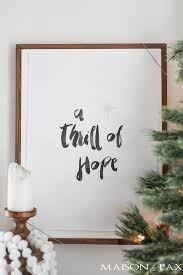 thrill hope free christmas printable maison pax