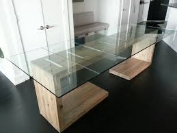 Kitchen Side Table by Hand Crafted Glass Top Dining And Side Table By Ajc Woodworking