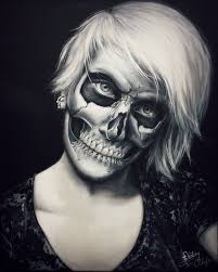 How To Paint A Skeleton Face For Halloween by Skull Make Up Painting By Straewefin On Deviantart
