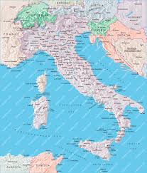 Italy Earthquake Map Italy Switzerland Slovenia Map Illustrator Mountain High Maps