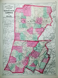 Pennsylvania County Map by An Overview Of Pennsylvania Mapping Circa 1850 To 1900