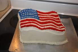 Flag Cakes Half Bad Half Batty Flag Cake Fourth Of July
