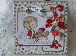 my cute christmas cards using the sylvia zet digi stamp images