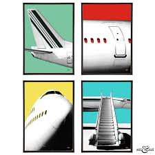 airplane group pop art print by lime lace notonthehighstreet com