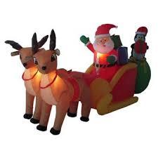 santa sleigh for sale 106 illuminated santa sleigh w 2 reindeer outdoor