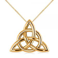 knot pendant necklace images Triangular irish trinity celtic knot pendant necklace 14k yellow gold jpg