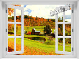 vermont farmhouse accent window murals
