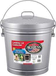 Amazon Com Behrens 6110 10 Gallon Locking Lid Can Lidded Home