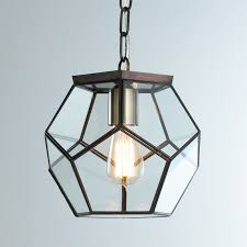 clear glass light globes clear glass prism pentagon pendant light shades of light