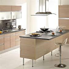cuisine avec table ilot central avec table 13 cuisine stratifi233 noir brillant