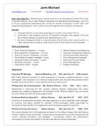 Accounting Objectives Resume Examples by Public Relations Objective Resume Free Resume Example And