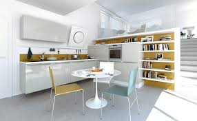 funky kitchen ideas open modern kitchens with few pops of color