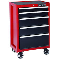 rolling tool storage cabinets craftsman 26 in 5 drawer heavy duty ball bearing rolling cabinet