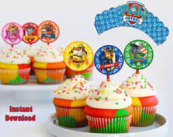 paw patrol toppers etsy