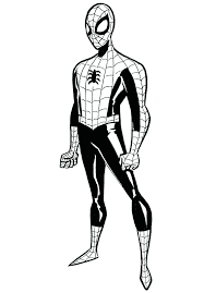 spiderman clipart coloring sheet pencil color spiderman