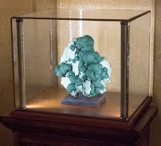 lighted display stand for glass art greenstone lighted display cases for minerals art curios