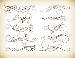 vintage vector flourishes and ornaments free vector