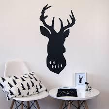 oh deer wall sticker by parkins interiors notonthehighstreet com wall sticker
