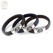 aliexpress buy new arrival cool charm vintage 2017 handmade retro genuine leather charm anchor wheel bracelet