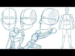 how to draw the human figure body construction tutorial